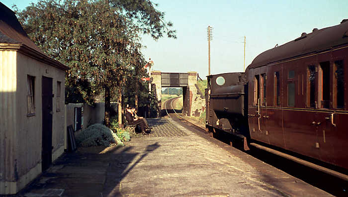 Fairford station on a September evening in 1961